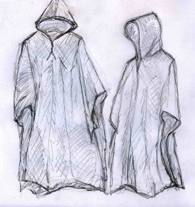 ponchos with hood sketch (2)